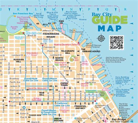 san francisco map guide san francisco walking tour 187 hill city virginia