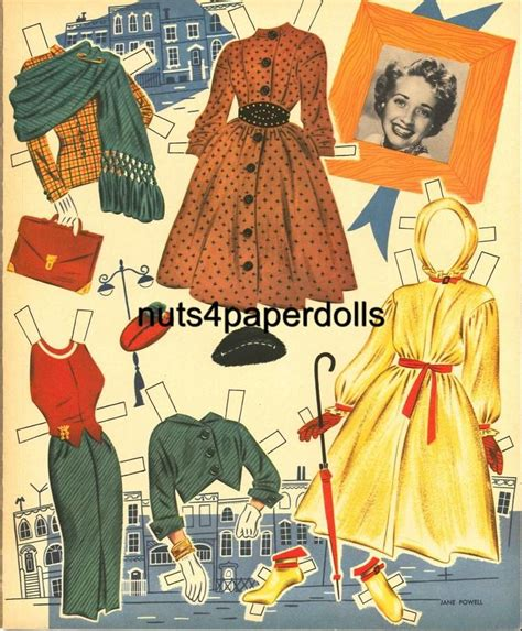printable movie star paper dolls jane powell paper doll clothes ebay movie star paper