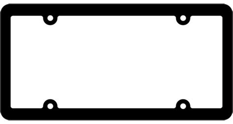 Blank License Plate Template License Plate Frame Template