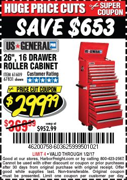 26 16 drawer roller cabinet harbor freight tools coupon database free coupons 25