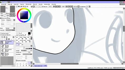 paint tool sai how to line paint tool sai tutorial en espa 241 ol lineart