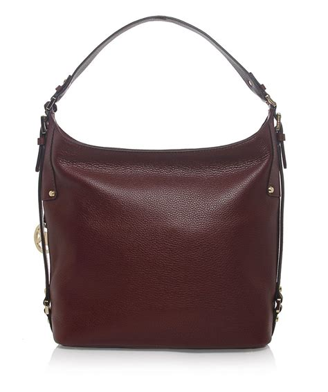 Michael Kors Tweed And Patent Belted Satchel by Lyst Michael Michael Kors Bedford Belted Shoulder Bag In
