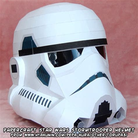 Papercraft Stormtrooper Helmet - ninjatoes papercraft weblog another papercraft wars
