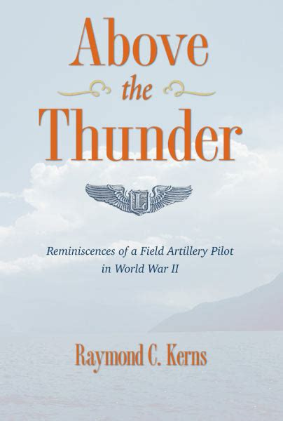 thunder books above the thunder reminiscences of a field artillery