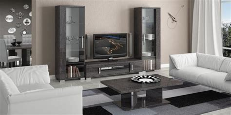Sofas In Cardiff Venicia Grey Birch Contemporary Tv Stand And 2 Display