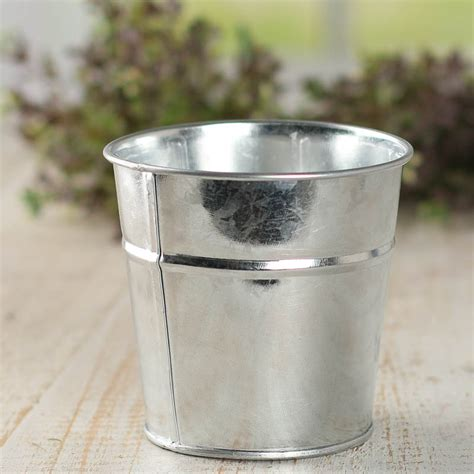 Small Metal Planter by Small Galvanized Metal Planter What S New Craft Supplies