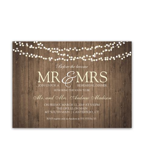 rustic string lights rustic string lights wedding rehearsal dinner invite