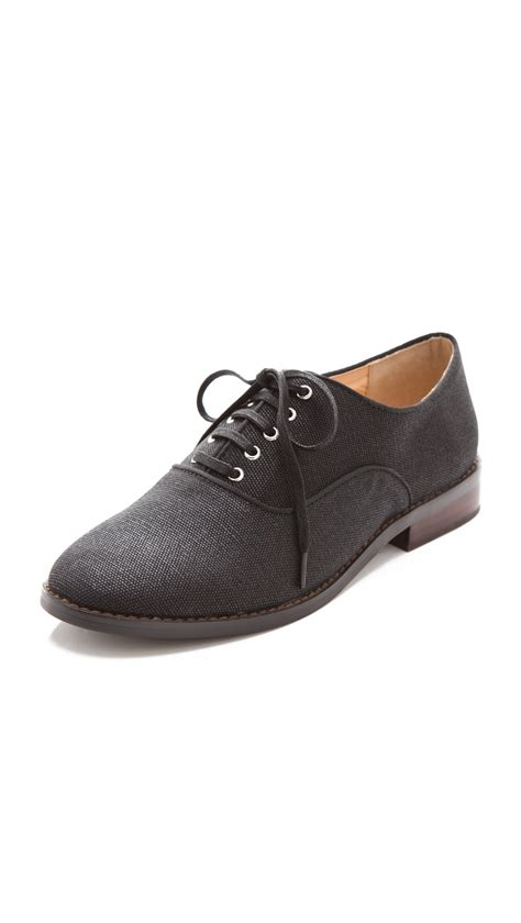 marais usa canvas oxfords in black lyst