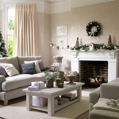 Decorating Living Room by 5 Inspiring Christmas Shabby Chic Living Room Decorating