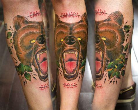tattoo new school bear arm new school bear tattoo by adrenaline vancity