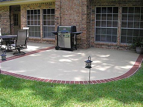 brick edging around concrete patio vic s board pinterest