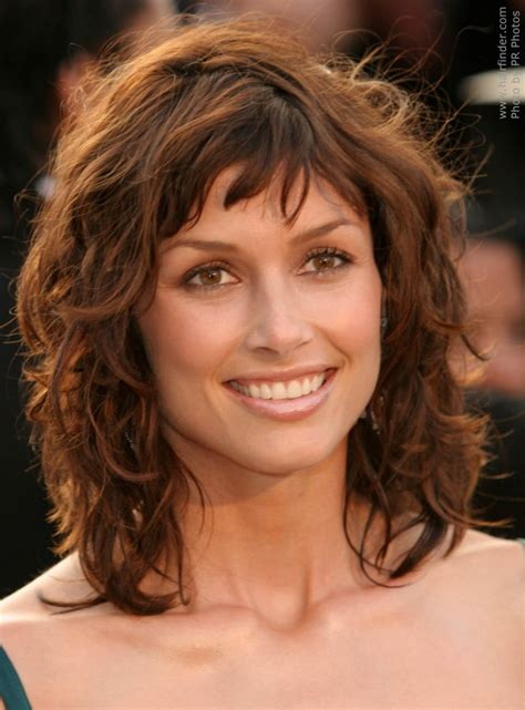 medium hair length easy curly sensational medium length curly hairstyle for thick hair