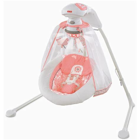 fisher price swing accessories fisher price deluxe cradle swing coral floral fisher