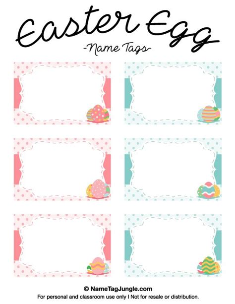 easter place card template free free printable easter egg name tags the template can also