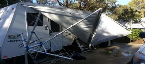 caravan retractable awnings is your caravan awning damaged in a storm here is what