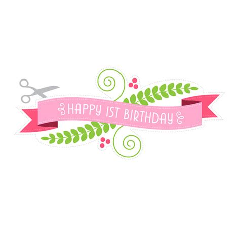 printable happy birthday banner for cake printable cake banner happy 1st birthday by especiallypaper