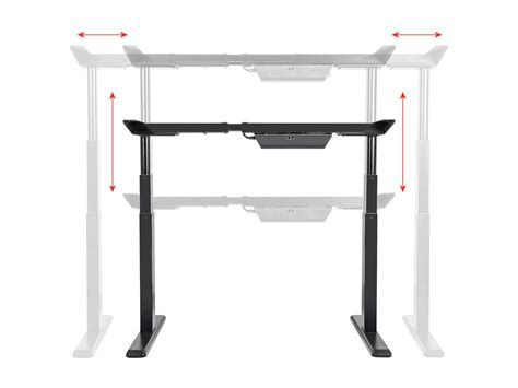sit stand desk frame sit stand dual motor height adjustable desk frame