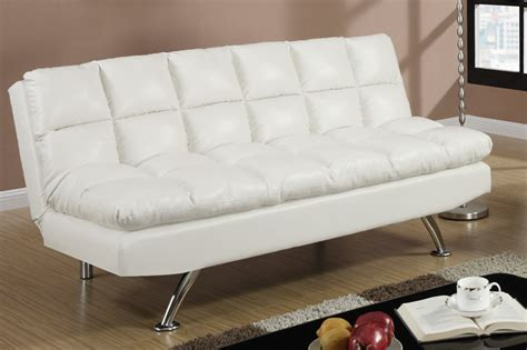 twin bed sofa poundex f7015 white twin size leather sofa bed steal a