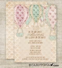 Hot air balloon baby shower invitations custom by cardtopiacompany