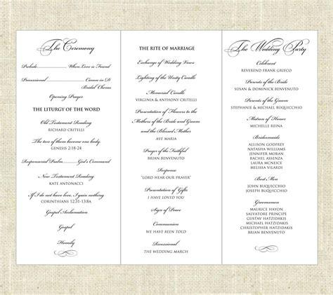 forwarding program tri fold printable wedding program wedding programs