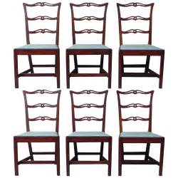 Ribbon Back Dining Chairs Set Of Six Chippendale Cherry Ribbon Back Dining Chairs New At 1stdibs
