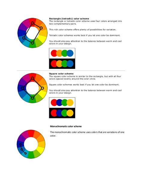 tetradic color scheme color schemes pdf