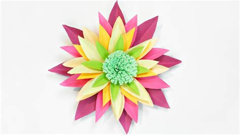 Paper Flowers For Children To Make - dahlia paper flower diy tutorial paper flowers