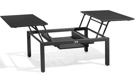 table basse et haute table basse haute trento tip up de manutti 3 tailles