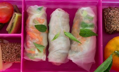 Rice Paper Rolls In Advance - 7 lunchbox hacks your will 1 million