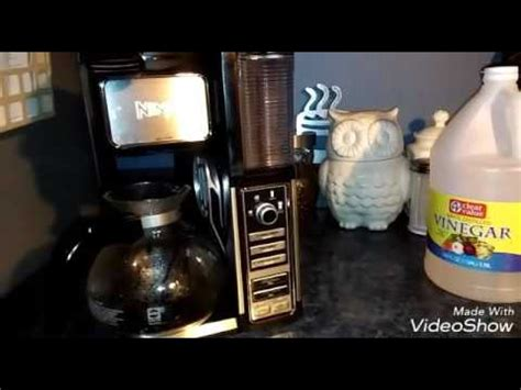 clean light on ninja coffee bar cleaning your ninja coffee bar single serve youtube