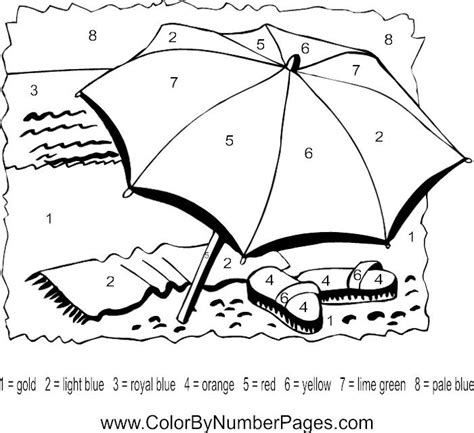 summer color by number coloring pages 124 best images about summer color by number on pinterest