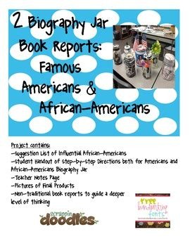 Biography Jar Book Report   two biography jar book reports by cortez corner tpt