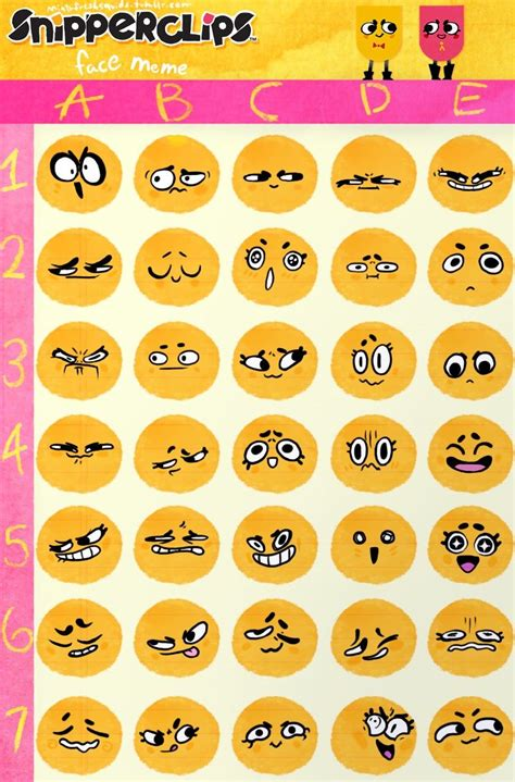 Meme Expression Faces - snipperclips faces art inspiration pinterest face