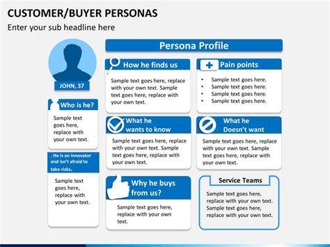 Customer/Buyer Personas PowerPoint Template   SketchBubble