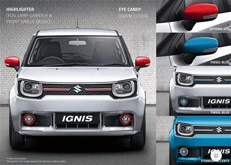 List Bumper Depan Suzuki Ignis Embos maruti suzuki ignis nexa accessories launched