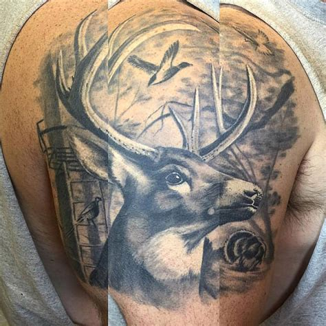30 eye catching deer tattoos