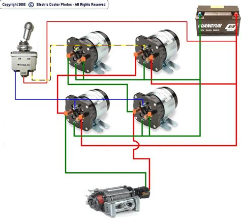 i a winch that is 12v dc the relays out so i want to
