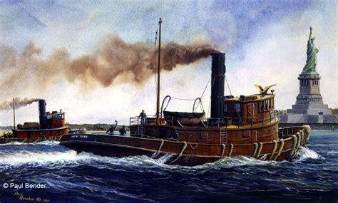 tugboat painting steam tugboats painting i tugboats pinterest