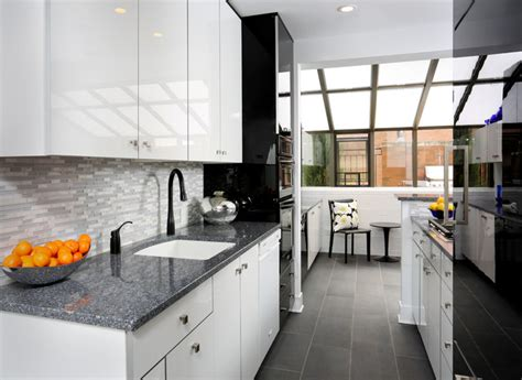 Kitchen Designer Chicago Modern Galley Kitchen Design Contemporary Kitchen