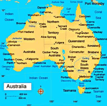 picture of map of australia map of australia