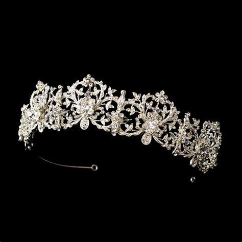 Luxury Sparkling Silver Plated Austrian Princess Tiara royal bridal tiara silver sparkling rhinestone tiara