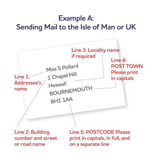 letter envelope format uk preparing your mail isle of post office