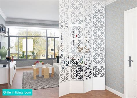 partition designs wooden grille wall partition decorative hang grille 1 box