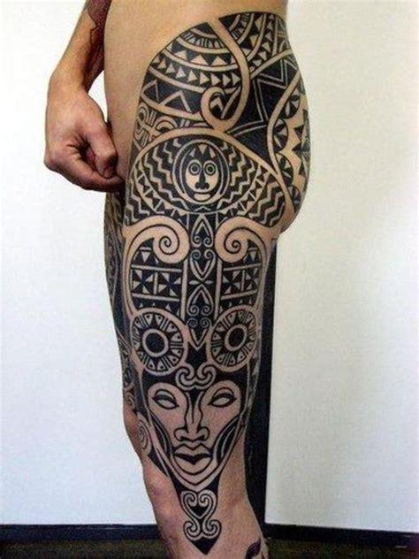 tatuagem maori na coxa tattoo pinterest maori