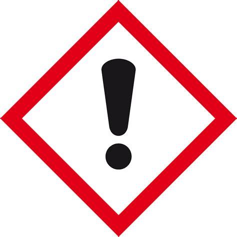 Gefahren Aufkleber by Gefahren Ausrufezeichen Ghs07 Ohne Signalwort Kroschke