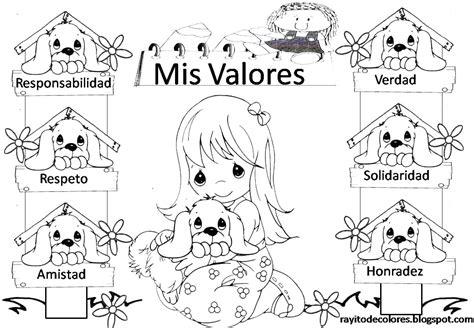 imagenes para colorear sobre los valores rayito de colores carteles de valores