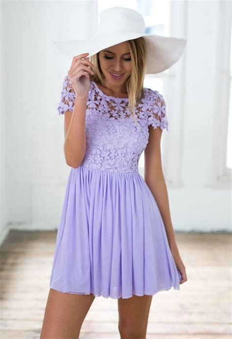 purple embroidered lace top dress with tulle pleated skirt
