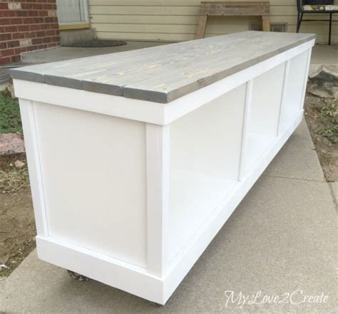 how to make a cheap bench cheap cabinet into nice bench