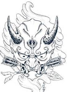 Outline In Color Masks Japanese by 25 Best Ideas About Japanese Mask On Oni Mask Samurai Mask