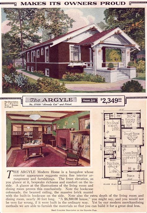 modern craftsman ranch houselans sears home bungalow house plans one the argyle 1923 sears roebuck modern homes the argyle is a